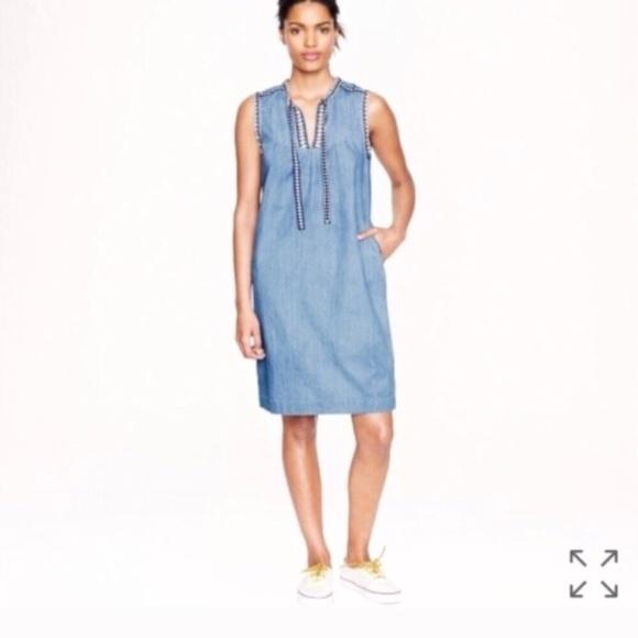 03e3e0d68c J. Crew Dresses   Skirts - J. Crew chambray denim dress light wash size